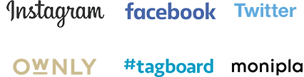 Instagram, facebook, Twitter, OWNLY, #tagboard, monipla