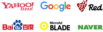 Yahoo! JAPAN, Google, Red, Baidu, MicroAdBLADE, NAVER